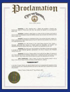 Julie Holt proclamation certification image
